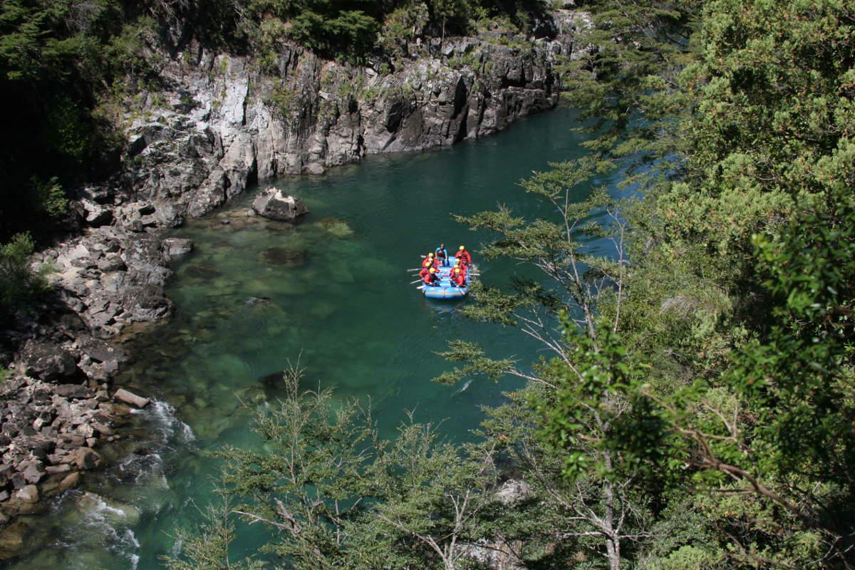 White Water Rafting auf dem Rio Manso in der Nähe von San Carlos de Bariloche, Argentinien