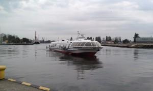 Das Tragflächenboot Bosman Express