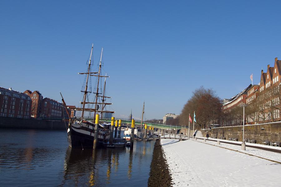 Die Bremer Schlachte im Winter