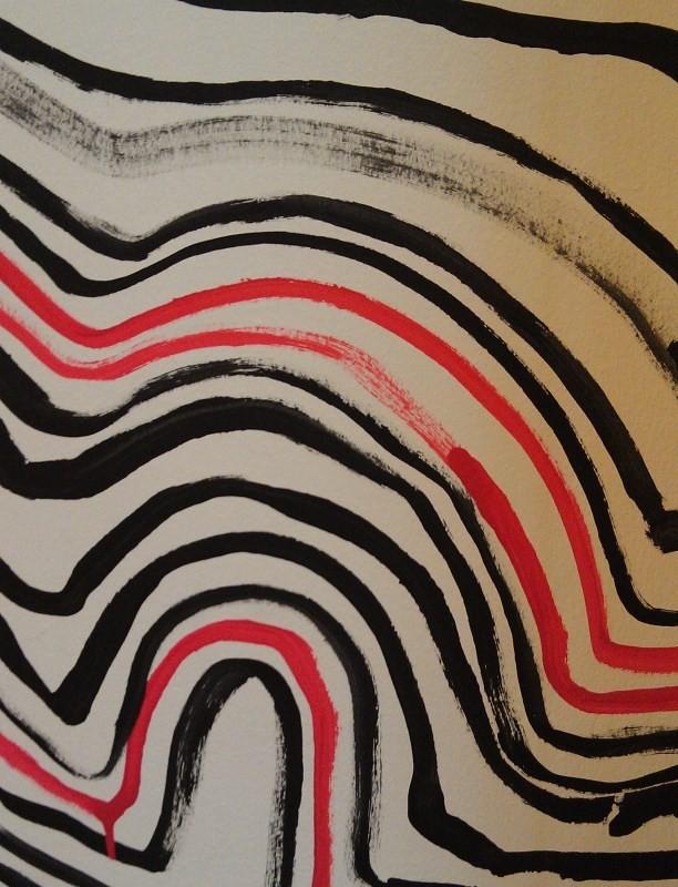 Ausschnitt aus der Linie des Lebens - einer Installation anlässlich der Hundertwasser-Ausstellung in der Kunsthalle Bremen