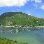 Emerald sea at Lamma Island, Hongkong