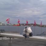 Der Esel am Hafen von Stavanger in der Nähe des Konzertgebäudes