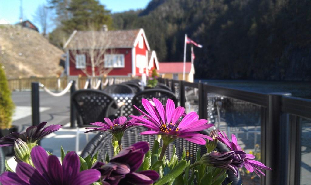 Direkt am Fjord von Sand gibt es dieses Hotel mit hübscher Aussicht