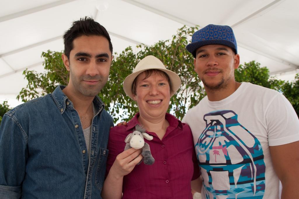 Amir Amor, Kesi Dryden, der Esel und ich beim Presse-Event zur Isle of MTV auf Malta