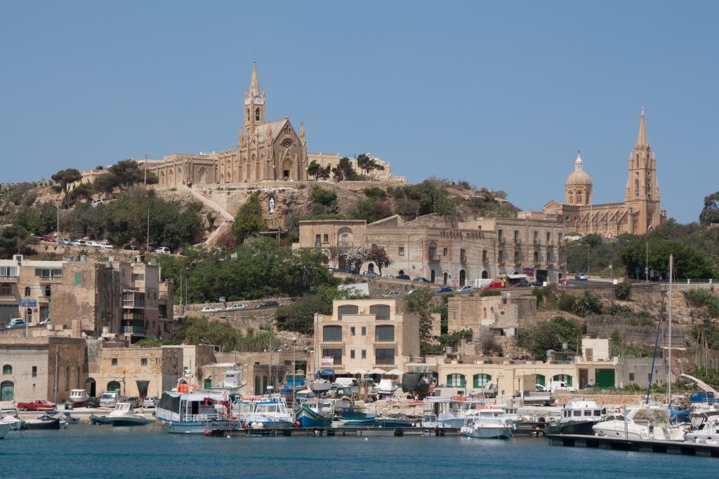 Der Hafen von Mgarr auf Gozo
