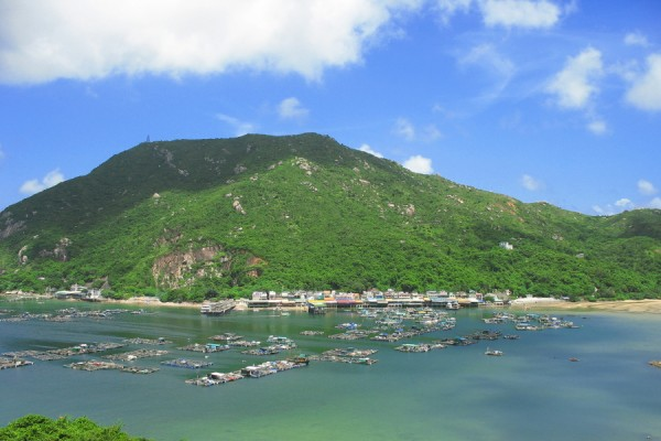 Green - Sea at Lamma Island