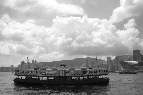 White - Star ferry in Hongkong