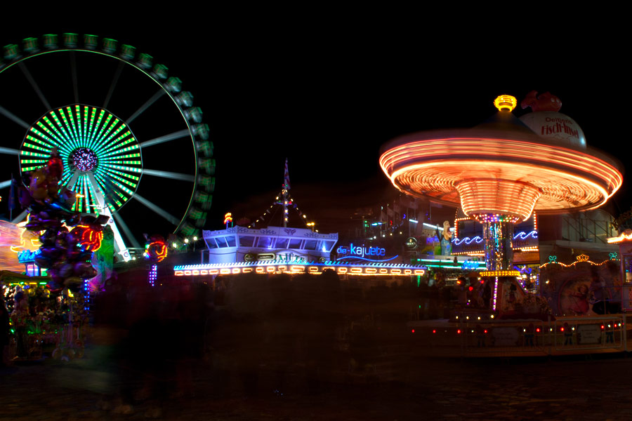Freimarkt Bremen - Riesenrad und Kettenkarussel