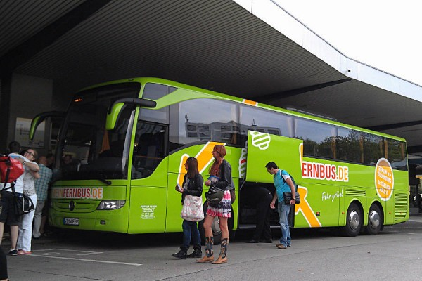 Mein Fernbus am Busbahnhof Berlin