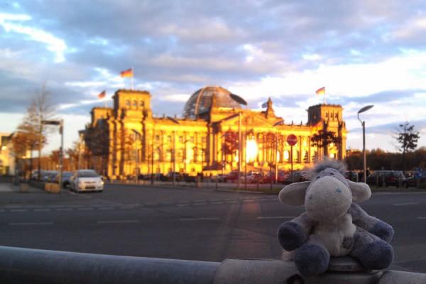 Berlin Reichstag in evening light