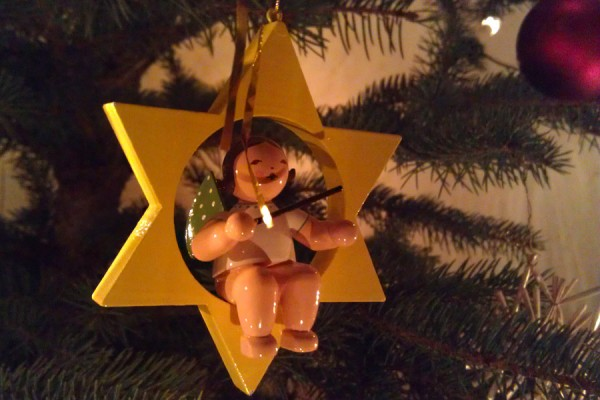 Traditional decoration at christmas tree in Germany