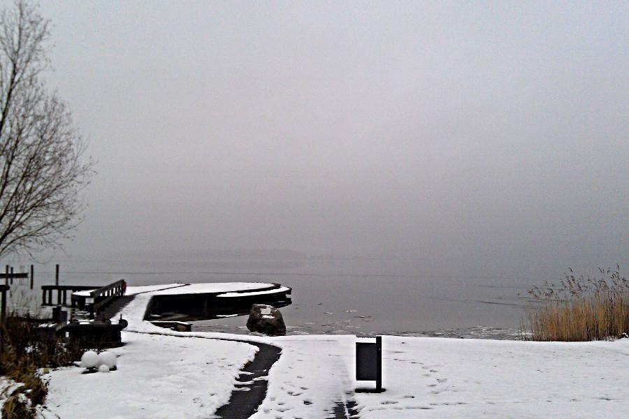 Der Fleesensee bei Göhren im Winter