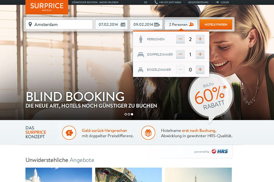 SURPRICE Hotels Startseite