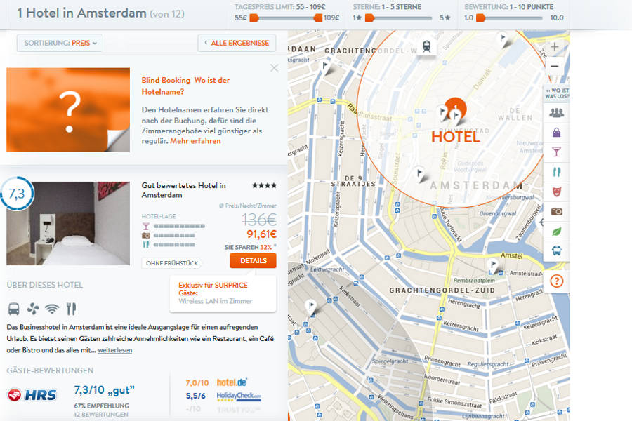 Surprice Hotels Hotelauswahl