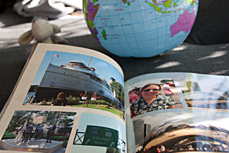 Snapfish Fotobuch - Beispielseiten