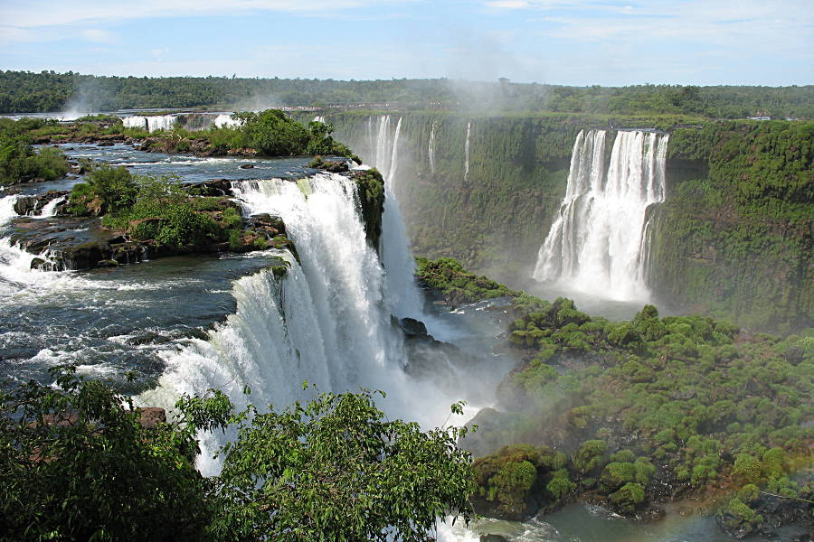 Die Wasserfälle von Iguazu von der brasilianischen Seite aus gesehen