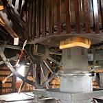 Im Inneren der Museumsmühle in der Nähe von Schermerhorn