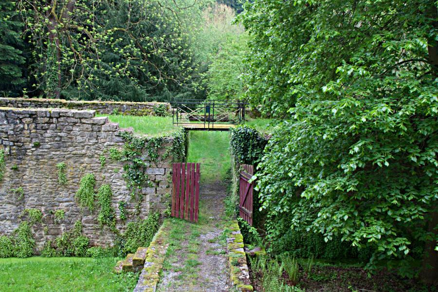 Im Garten von Schloss Eyb in Dörzbach