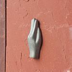 Eine Antwerpener Hand an der Fassade vom MAS