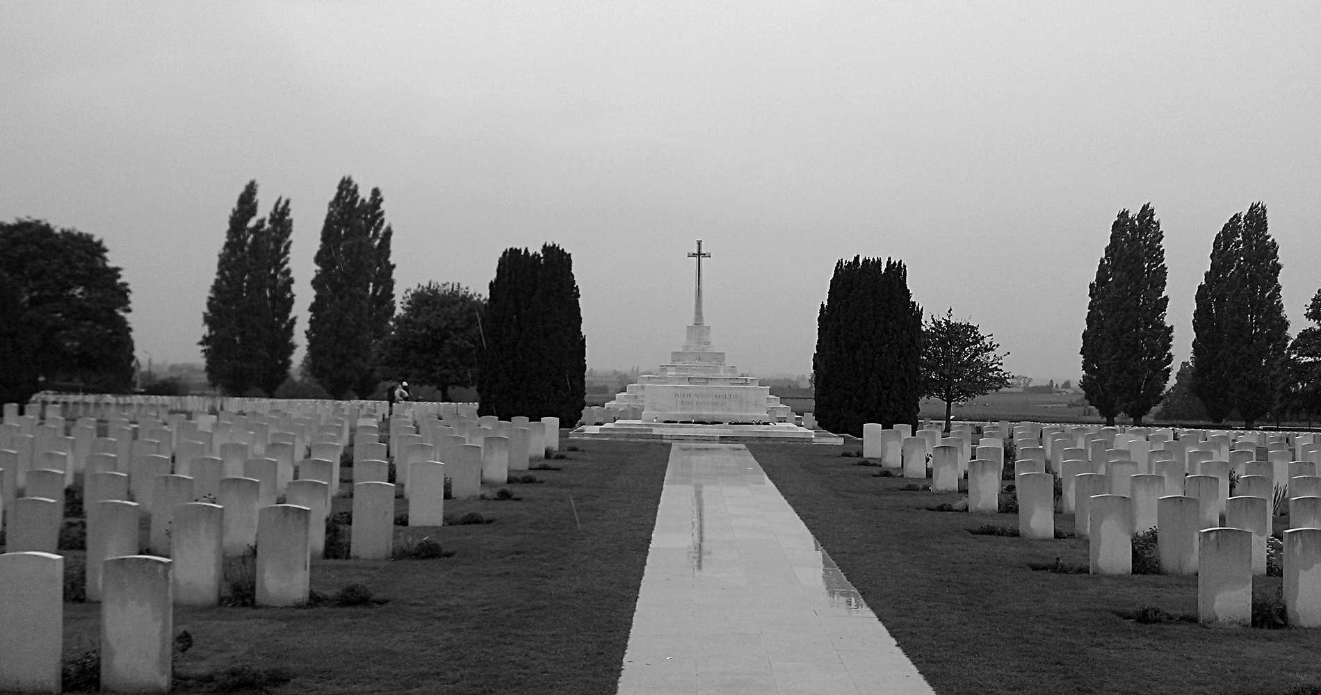 Der Tyne Cot Friedhof in Flandern - Mahnmal des 1. Weltkrieges