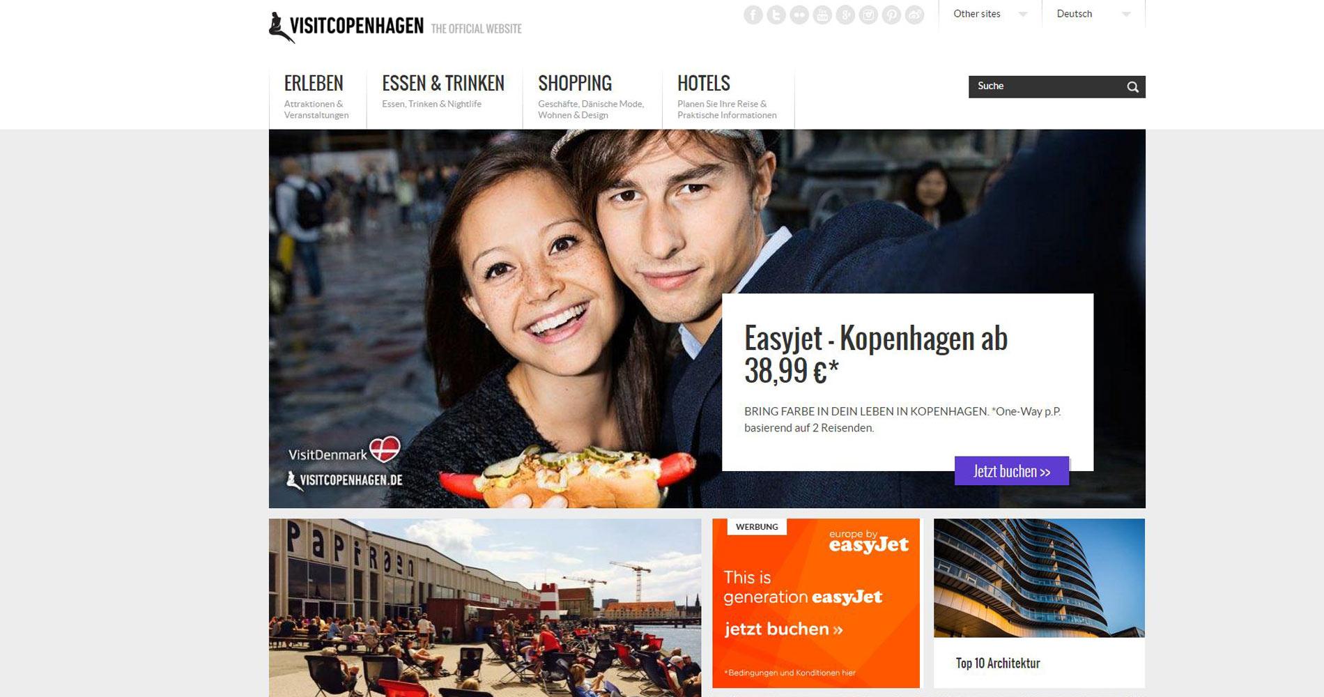 Screenshot der Seite http://www.visitcopenhagen.de/de/kopenhagen/easyjet