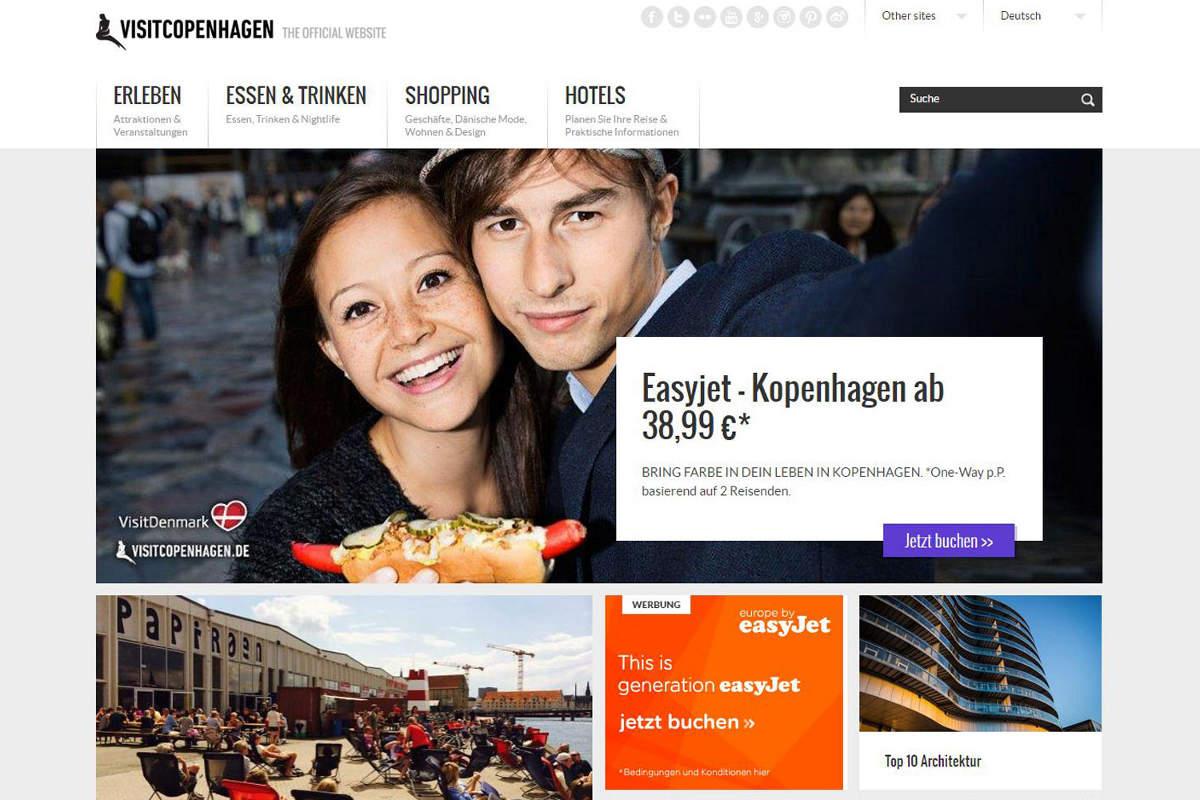 Screenshot Visit Copenhagen