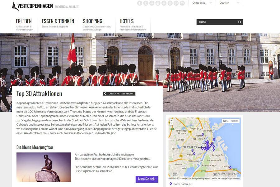 Screenshot der Seite http://www.visitcopenhagen.de/de/kopenhagen/sightseeing/top-30-attraktionen
