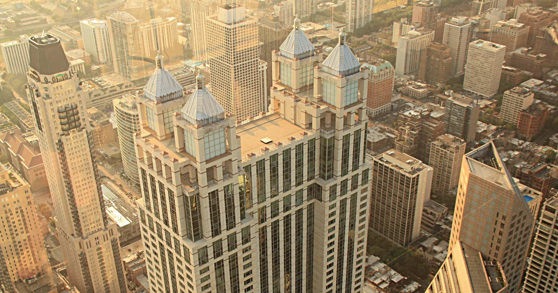 Chicago von oben - gesehen vom John Hancock Building