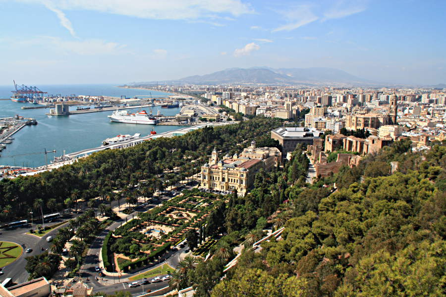 Malaga von oben