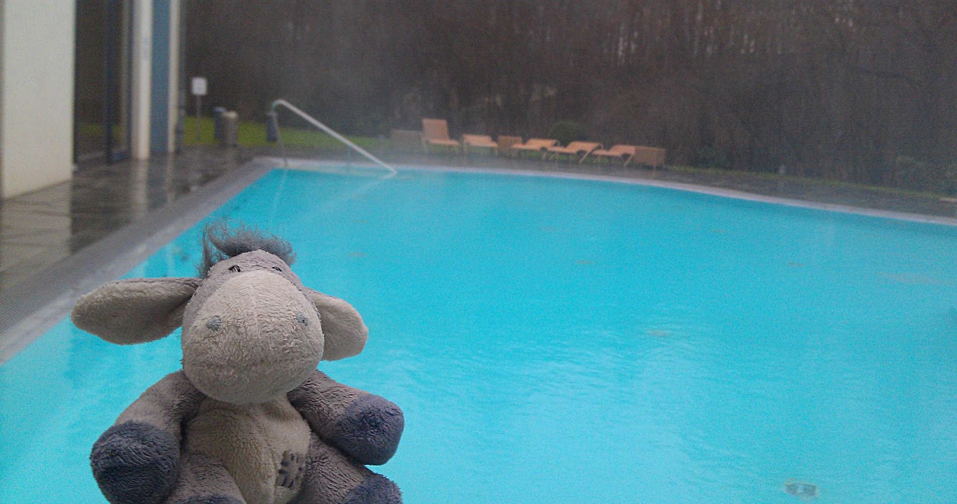 Das Außen-Sole-Becken im Hotel Esplanade, Bad Saarow