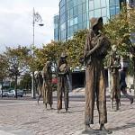 Das Famine Memorial - Erinnerung an die große Hungersnot, die Irland die Hälfte seiner Einwohner kostete.