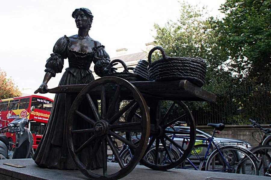 Die Statue der Molly Malone an der Ecke Grafton Street/Suffolk St - während meines Rundgangs durch Dublin komme ich gleich mehrmals an ihr vorbei.