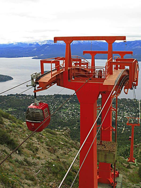 Seilbahn hinab vom Gipfel nach San Carlos de Bariloche