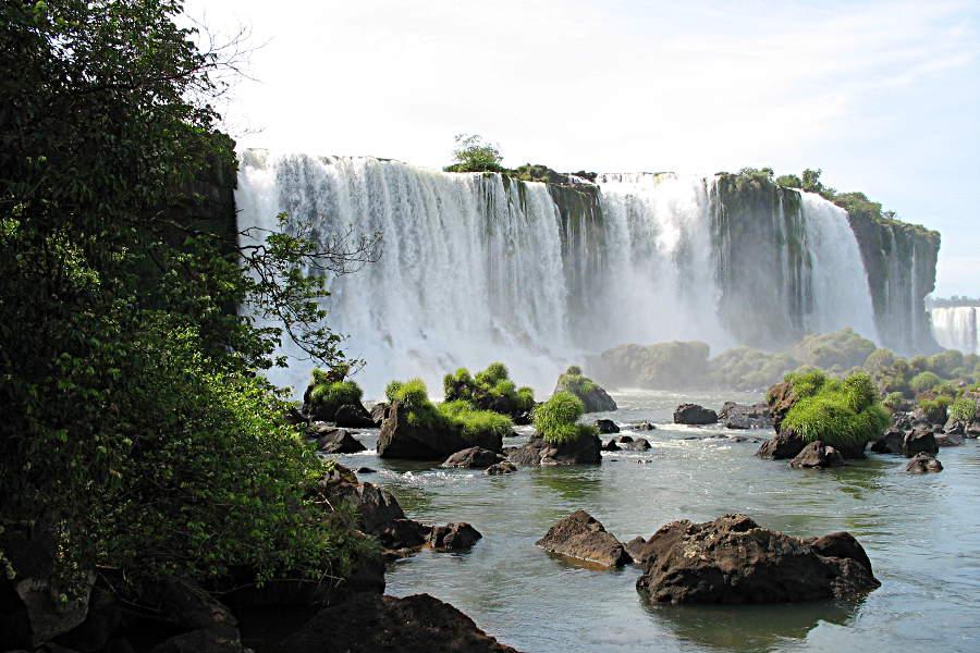 Die Wasserfälle von Iguazu auf der brasilianischen Seite
