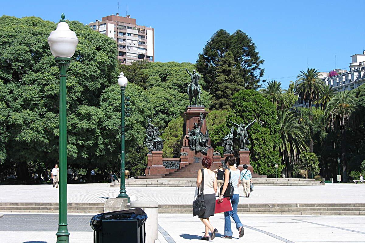 Ein Platz im Herzen von Buenos Aires, Argentinien