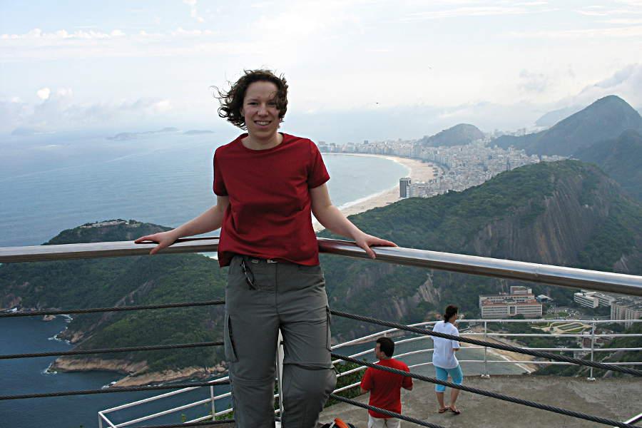 Blick vom Zuckerhut auf die Copacabana