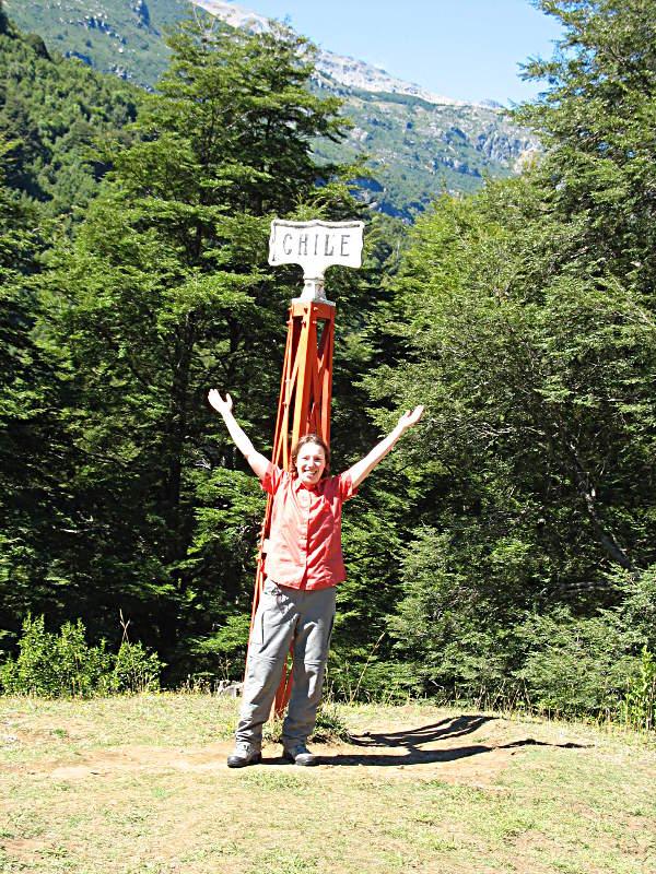 An der grünen Grenze zu Chile - es dauerte dann noch ein paar Wochen bis zu meinem offiziellen Grenzübertritt.