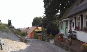 Die Dorfstraße von Kamminke