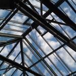 Das offene Dach der Station