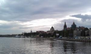 Stettin vom Tragflächenboot aus gesehen