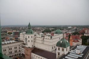 Blick auf einen Teil des Stettiner Schlosses aus einem Wachturm
