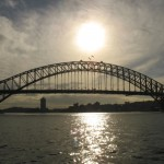 Harbour Bridge mit Abendsonne in Sidney