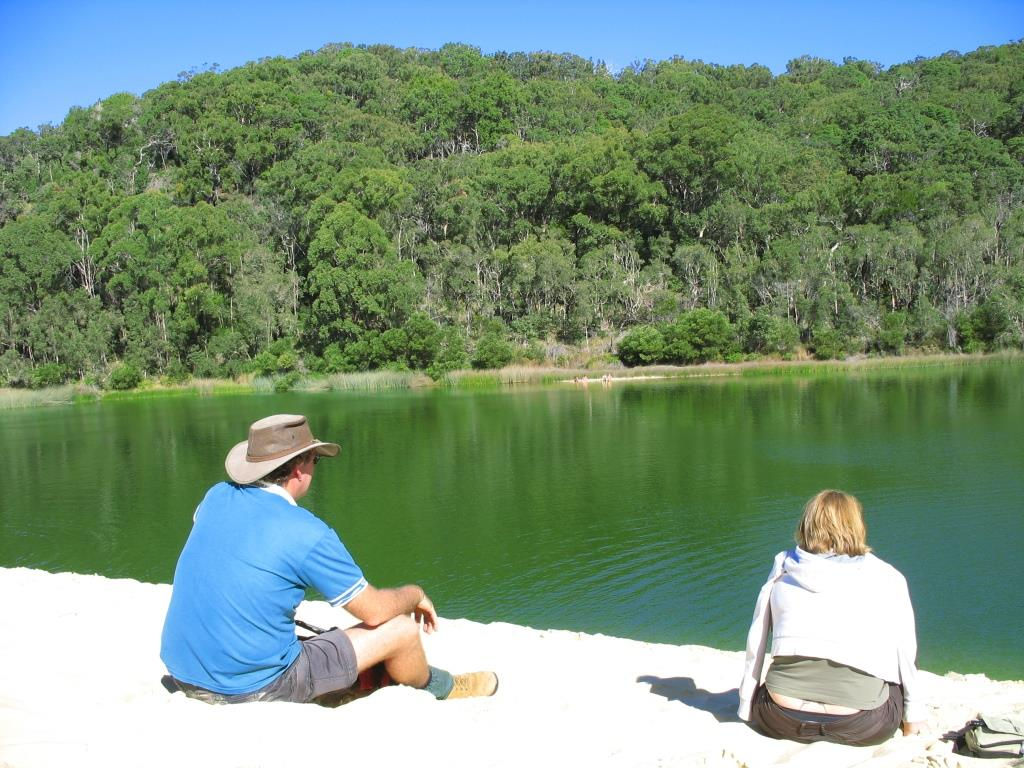 Lake Wabby on Fraser Island