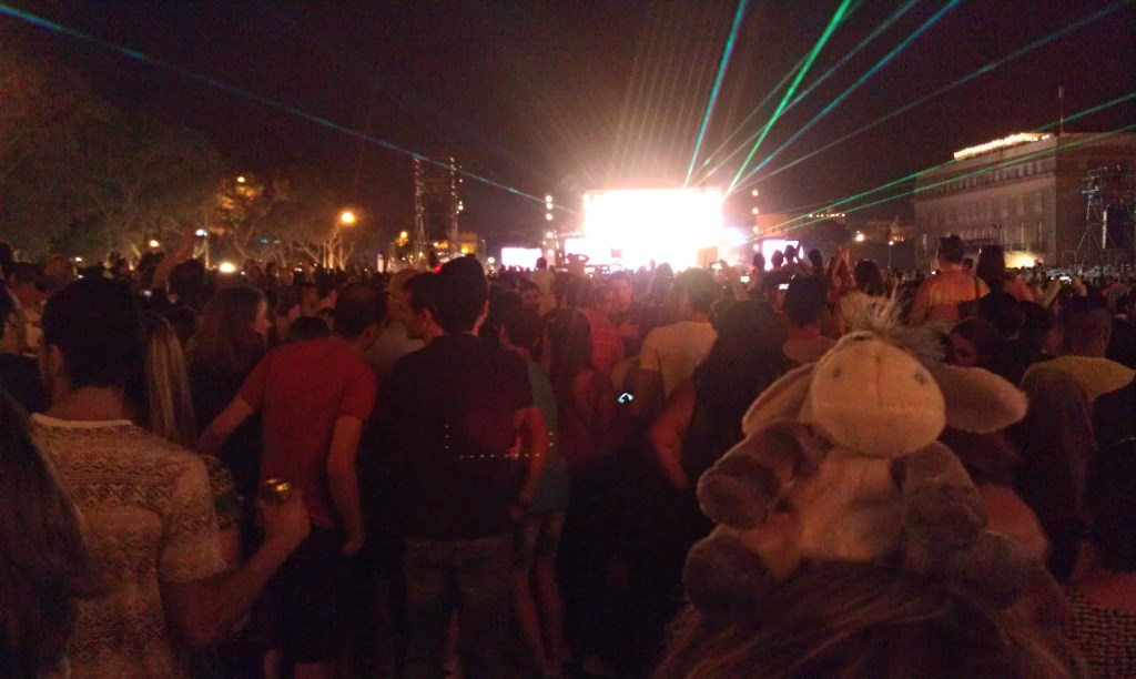 Der Esel auf dem Konzert Isle of MTV auf Malta