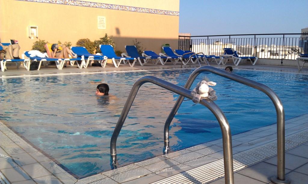 Der Esel am Pool des Golden Tulip Vivaldi auf Malta