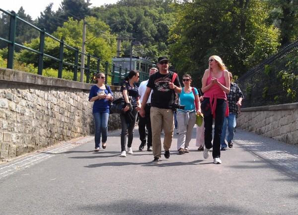 Reiseblogger an der Drachenfelsbahn