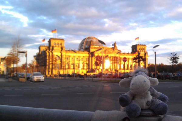 Berlin Reichstag in evening light