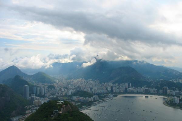 Rio - Blick vom Zuckerhut zur Christusstatue