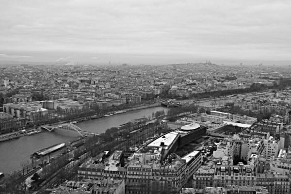 Blick vom Eiffelturm auf Paris