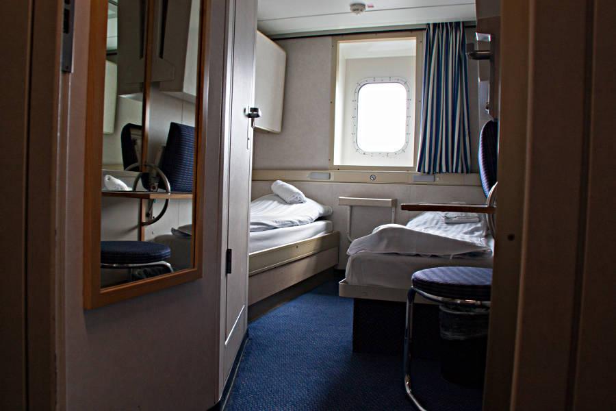 Kabine mit Meerblick an Bord der King Seaways